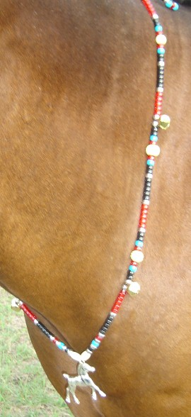 Rhythm Beads Necklace Horse Necklace A-MUSE-MINT Patriotic Parade Tack Trail Beads for Horses,Horse Show Tack Bear Bells